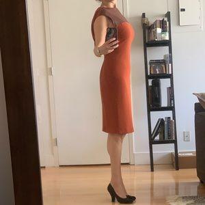 Dresses & Skirts - Elegant Rachel Roy knee length dress w leather